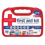 Johnson & Johnson All-Purpose Portable Compact First Aid Kit, 140 pc (117210)