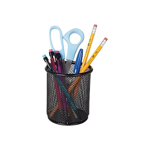 "Shop Staples for Staples® Wire Mesh Pencil Holder, Black, 4 2/10""H ..."
