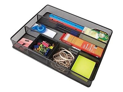Wire Mesh Drawer Organizer | Staples Wire Mesh Extra Large Drawer Organizer Black 15 X 12 X