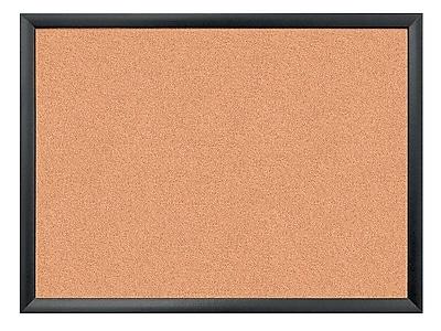 U Brands Cork Bulletin Board, Wood Frame, 2' x 1.5' (026U00-01)