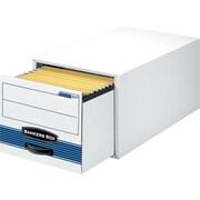 Bankers Box Stor/Drawer Steel Plus Legal 1 Drawer File Storage, White/Blue, 6/Carton (00312)