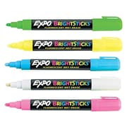 Expo BrightSticks Wet Erase Markers, Bullet Point, Assorted, 5/Pack (14075)