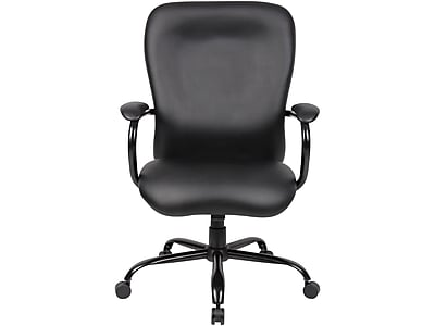 Superbe Boss Caressoft Big U0026 Tall Faux Leather Managers Office Chair, Fixed Arms,  Black (B990 CP) | Staples