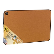 """Post-it® Sticky Cork Board, 22"""" x 36"""", Black and Gray, Includes Command™ Fasteners (558-BB)"""