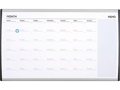 Quartet 30 X 18 Arc Cubicle Magnetic Dry Erase Calendar Staples