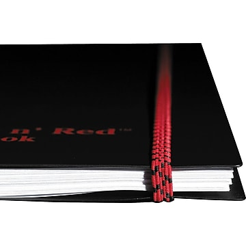 """Black n' Red Professional Notebook, 8.25"""" x 11.75"""", Wide Ruled, 70 Sheets, Black (E67008)"""