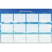 """2018-2019 Academic Blue Sky 24""""H x 36""""W Wall Calendar, Endless Summer, Blue (BSK-102410-19)"""