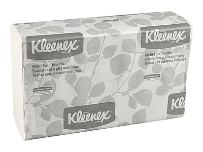 Kleenex Multifold Paper Towels, 1-Ply, 150 Sheets/Pack, 8 Packs/Carton (02046)