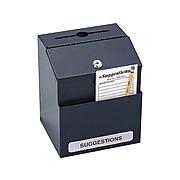 Safco Locking Steel Suggestion Box, Black (4232BL)