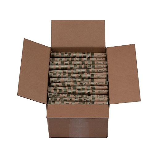 Pap-R Products Coin Wrappers, Brown 1000/Box (23010/2160640)