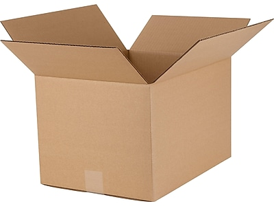 "16"" x 12"" x 10"" Shipping Boxes, Mullen Rated, Brown, 25/Bundle (60-161210)"