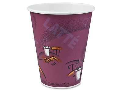 Solo Bistro Hot Cups, 10 Oz., Multicolor,