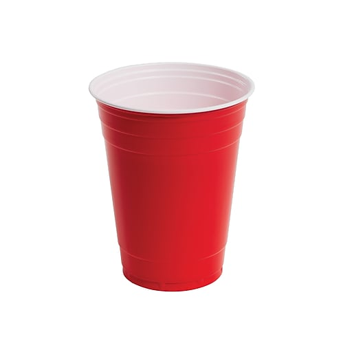 Staples Cold Cups, 16 oz., Red, 500/Carton (51697CT)