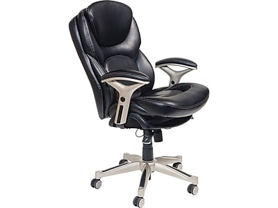 Serta Back In Motion Leather Executive Office Chair Fixed Arms