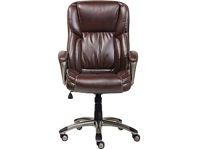 Serta Bonded Leather Executive Chair, Biscuit Brown (CHR200090)