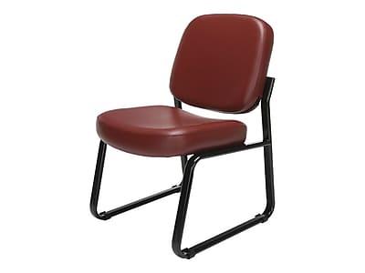 OFM Model 405-VAM Vinyl Reception Sets Chair, Wine (405-VAM-603)