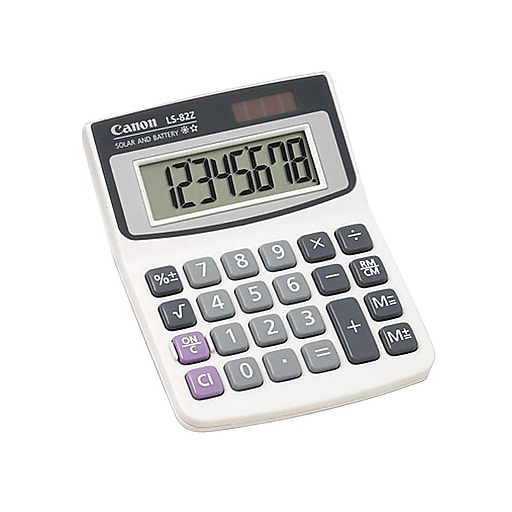 Canon LS-82Z 4075A007AA 8-Digit Portable Calculator, White