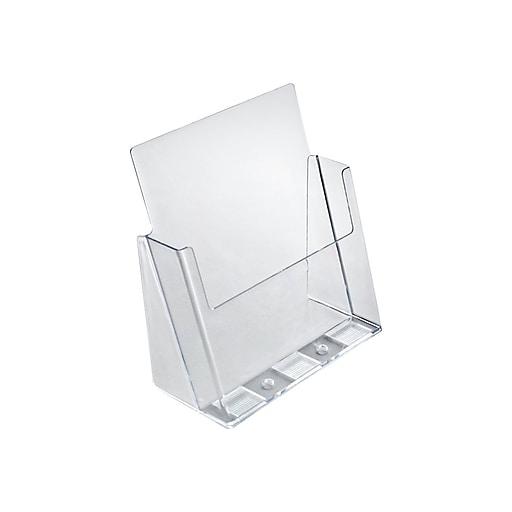 "Azar Brochure Holders, 8.5"" x 11"", Clear Plastic, 2/Pack (252385)"