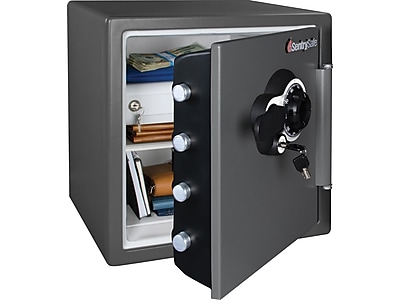 SentrySafe Steel Fire/Waterproof Safe with Combination w/Key, 1.23 cu. ft. (SFW123DEB)