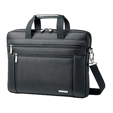 Samsonite Classic Laptop Briefcase, Black Nylon (43271-1041)