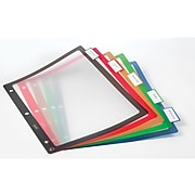 Staples Better Print & Apply Label Plastic Dividers, 5-Tab, Assorted Colors, Set (23279)