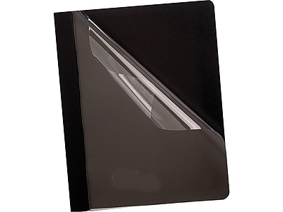 Oxford 3-Prong Report Cover, Letter, Black (OXF 55806)