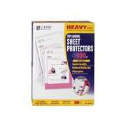 "C-Line Heavy Weight Non-Glare Sheet Protectors, 8.5"" x 11"", Clear, 100/Box (62028)"