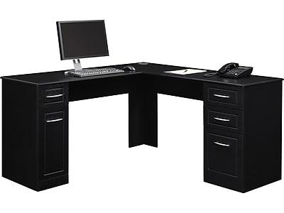 altra chadwick collection l desk nightingale black staples rh staples com