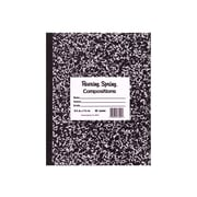 "Roaring Spring Composition Notebook, 8"" x 10"", Wide Ruled, 60 Sheets, Black Marble (77505)"