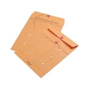 "Quality Park Button & String Inter-Departmental Envelopes, 10"" x 13"", Brown Kraft, 100/Box (QUA63561)"