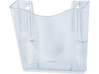 Deflect-O Euro-Style DocuPocket 1-Pocket Plastic Wall File, Clear (63001)