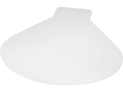 "Staples 66""W x 60""L Medium Pile Carpet Chair Mat, L/Corner Desk"