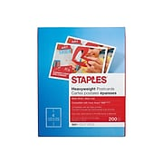 "Staples Matte Postcards, 5.5"" x 4.25"", White, 200/Box (12496)"
