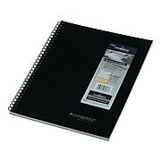 """Cambridge Limited QuickNotes Professional Notebook, 8.5"""" x 11"""", Wide Ruled, 80 Sheets, Black (06066)"""