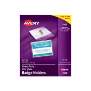Avery ID Badge Holders, Clear, 100/Box (2923)