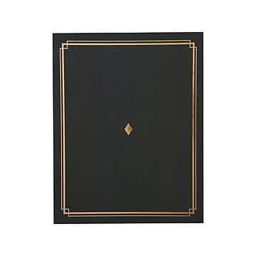 Gartner Studios 8.5 x 11 Certificate Holders, Black/Gold, 6/Pack (35003)