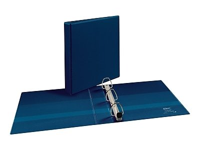 "Avery Heavy Duty 1 1/2"" 3-Ring View Binder, Navy Blue (79805)"