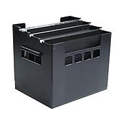DecoFlex Large Capacity Desktop File Box, Letter Size, Black (PFX 43013)