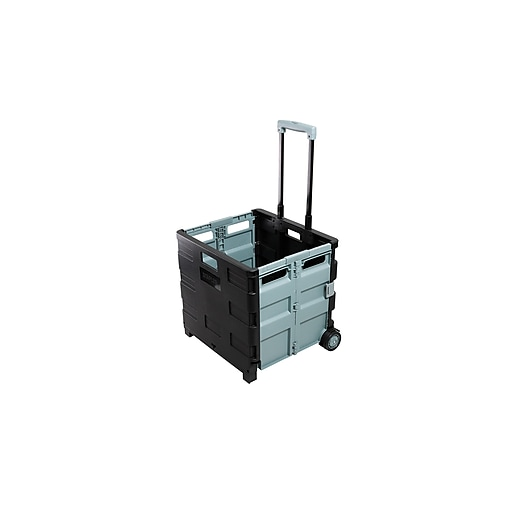 2ca3a14f5a3 Staples Expanding Folding Crate on Wheels   Staples