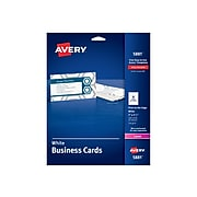"""Avery Laser Business Cards, 3.5""""W x 2""""L, Uncoated White 160/Pack (5881)"""