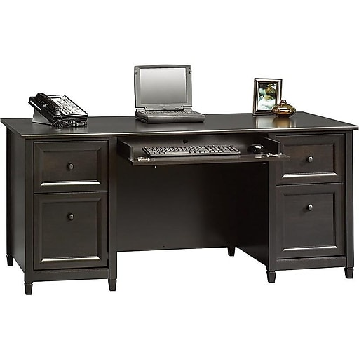 Sauder® Edgewater Collection Executive Desk, Estate Black ...