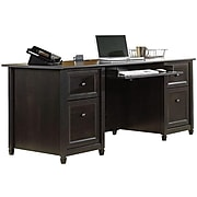 "Sauder Edge Water Collection 65"" Desk, Black (409042)"