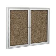 Best-Rite Enclosed Rubber-Tak Bulletin Board, Silver Frame, 4' x 3' (94PSC-I)