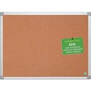 Bi-Office Earth-it Maya Cork Bulletin Board, Aluminum Frame, 4' x 3' (CA051790)