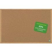 Mastervision Earth Cork Bulletin Board, Oak Frame, 4' x 3' (SB0720001233)