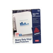 "Avery Heavy Weight Sheet Protectors, 8.5"" x 11"", Clear, 100/Box (73900)"