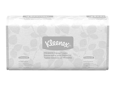 Kleenex Premiere Multifold Paper Towels, 2-Ply, 120 Sheets/Pack, 25 Packs/Carton (13254)