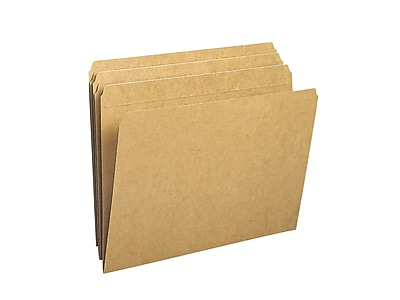 Smead File Folders, Reinforced Straight-Cut Tab, Letter Size, Kraft, 100/Box (10710)