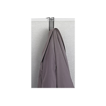 Safco Onyx Over-Panel Hook, Black, Metal (4229BL)