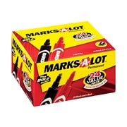 Marks-A-Lot Permanent Markers, Chisel Point, Assorted, 24/Pack (98187)